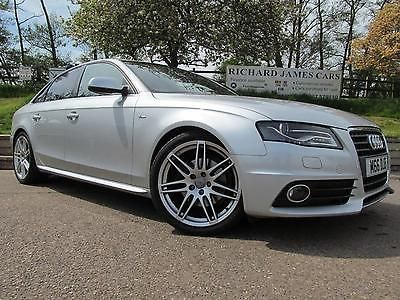 Audi A4 2.0 TDI 143 S Line 4dr SERVICE HISTORY Saloon Diesel Silver at  Richard James Cars Northampton